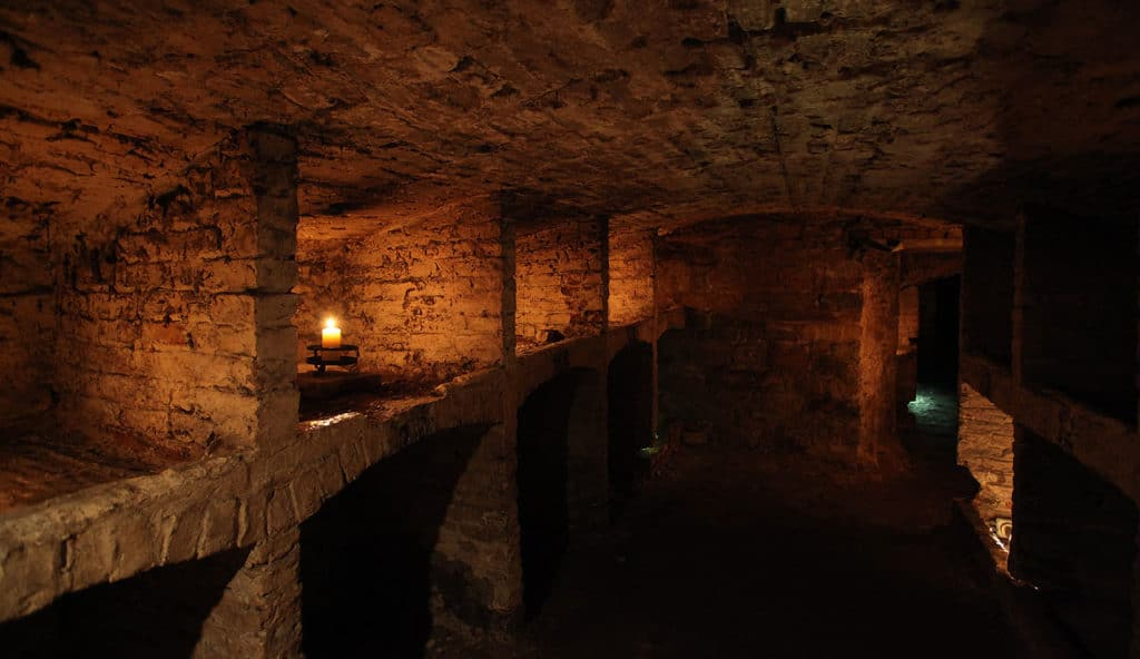 Câmaras subterrâneas de Edimburgo.