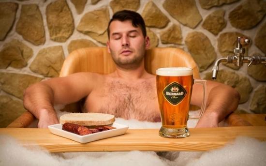 Caneca de cerveja no spa Grand Relax.