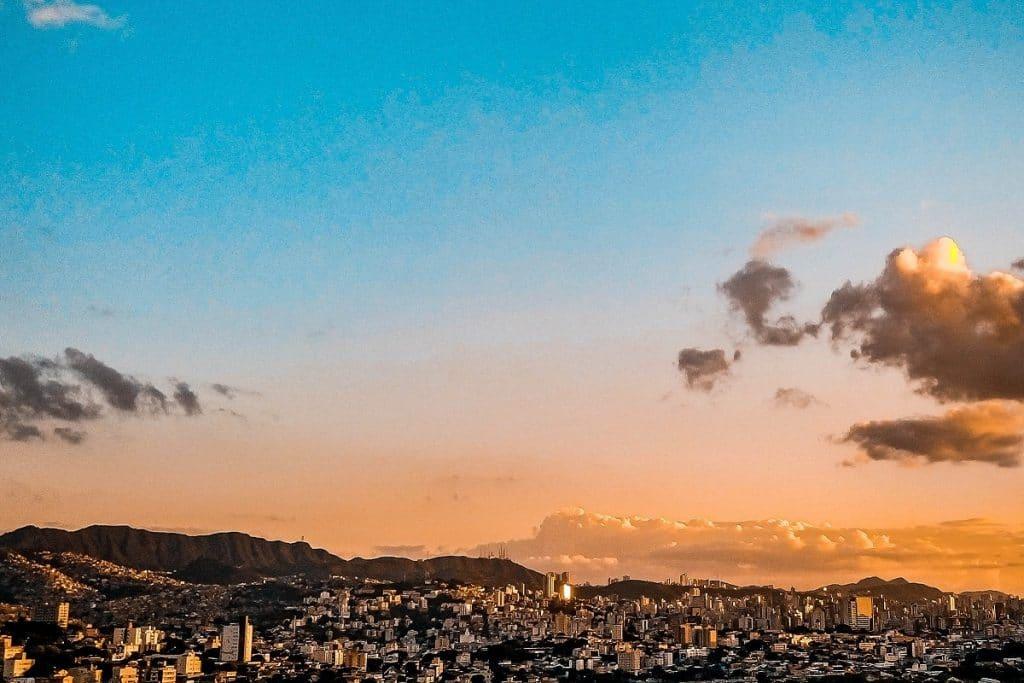 Por-do-sol em Belo Horizonte.