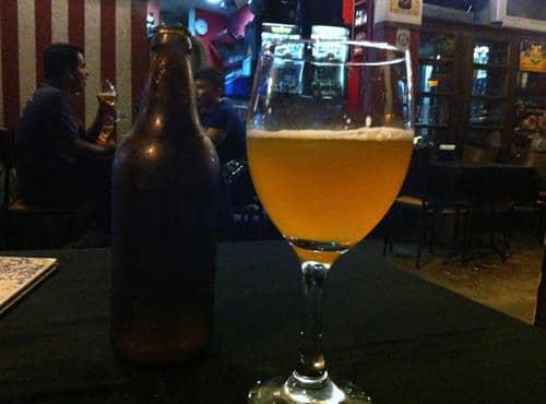 Cerveja do Café Viena.