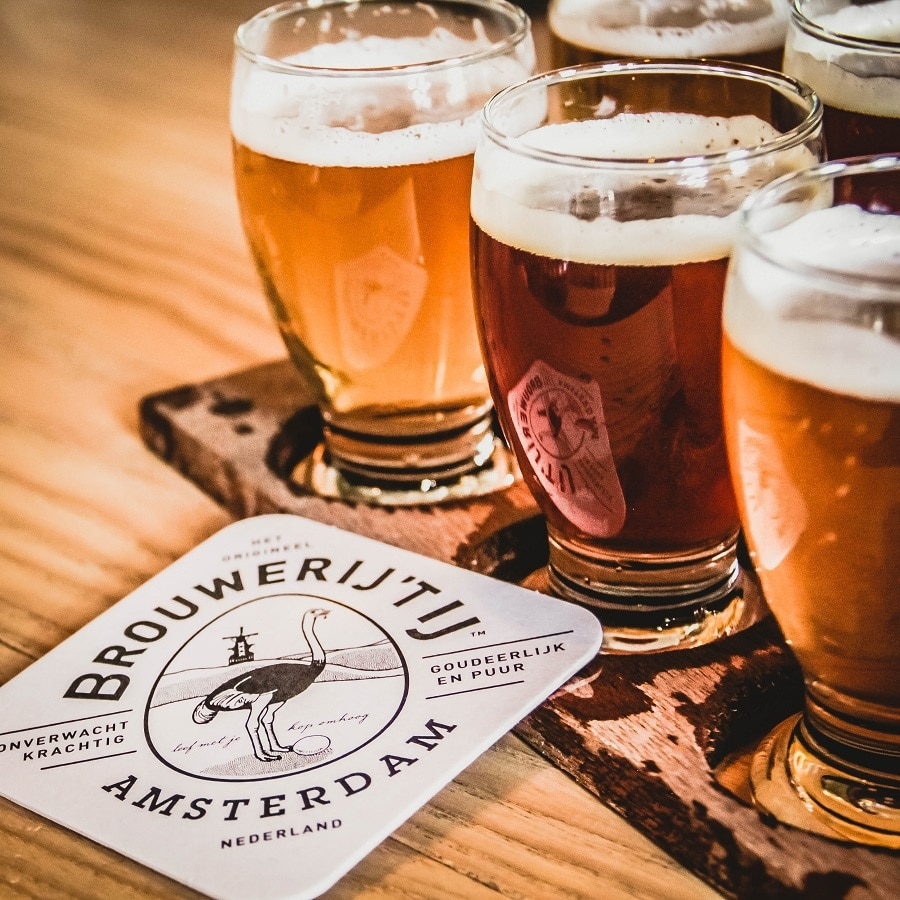 Cervejas orgânicas em Amsterdã.
