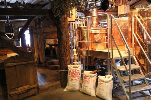 Produção de cerveja do Kovcheg em Ternopil.