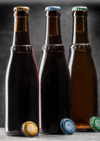 As garrafas da cerveja trapista Westvleteren.