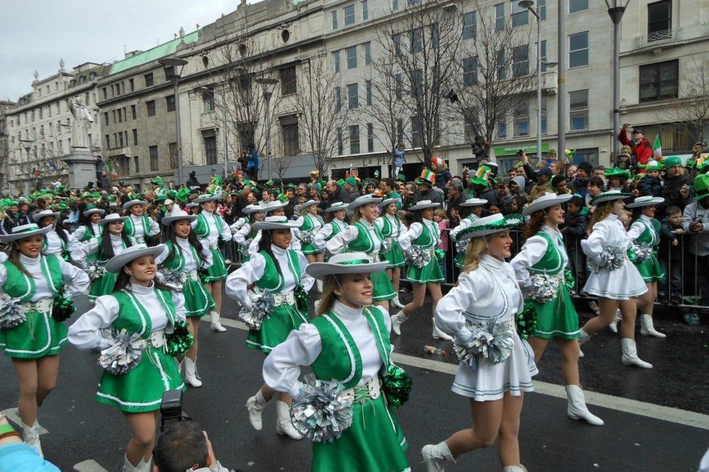 Desfile do St Patrick Day.