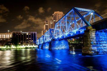 The Blue Bridge.
