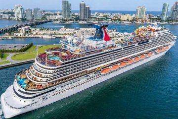 O navio de cruzeiro Carnival Vista.