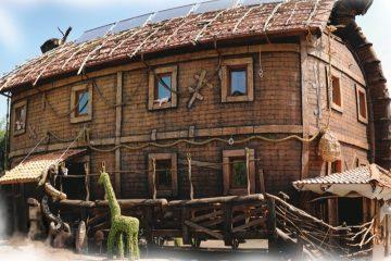 Restaurante Arca de Noé em Ternopil.