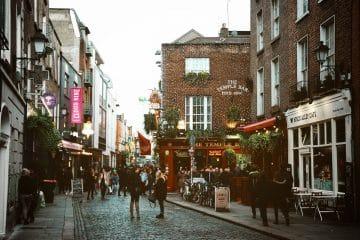 Temple Bar em Dublin.