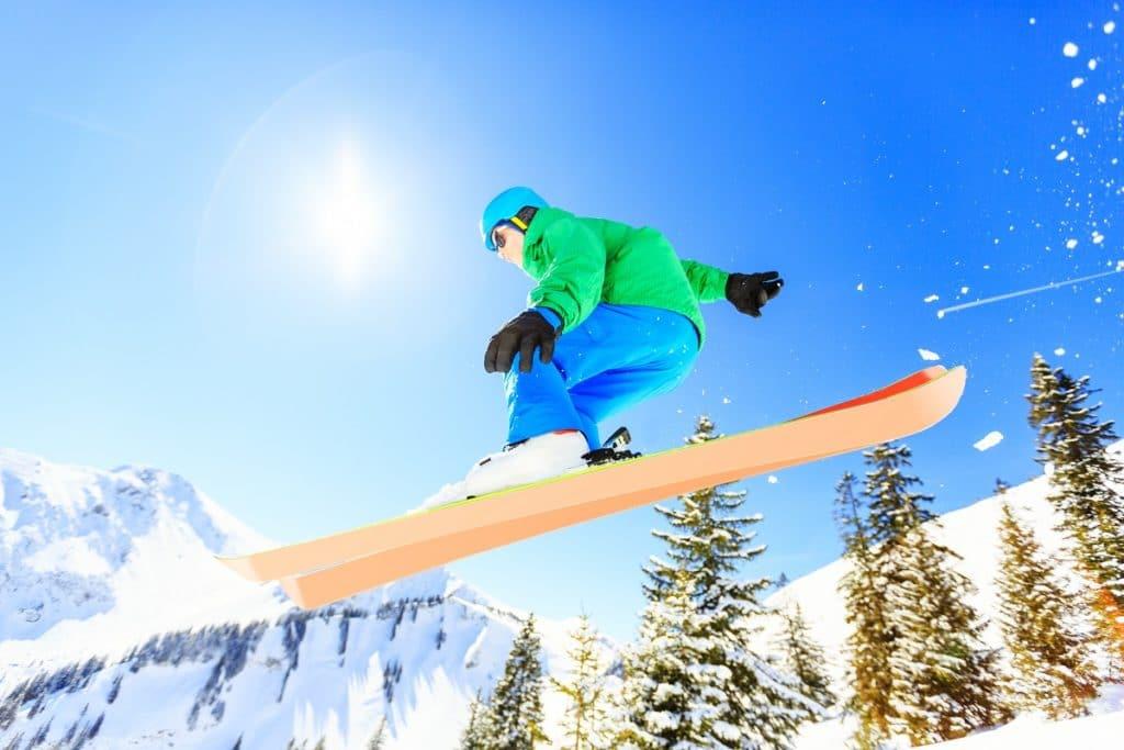 Seguro viagem para snowboard