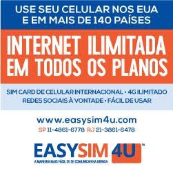Internet e celular no exterior.
