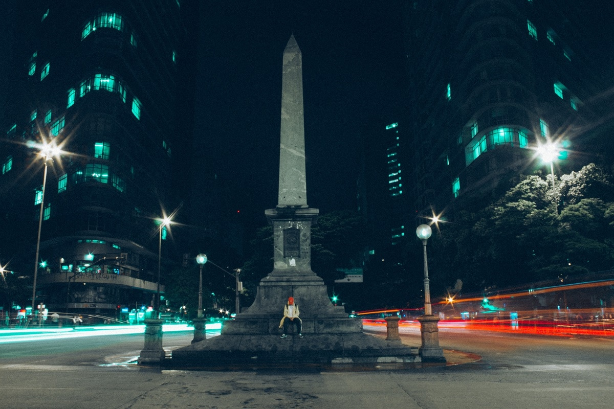 Centro de Belo Horizonte a noite.