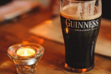 Fábrica da cerveja Guinness na Irlanda.