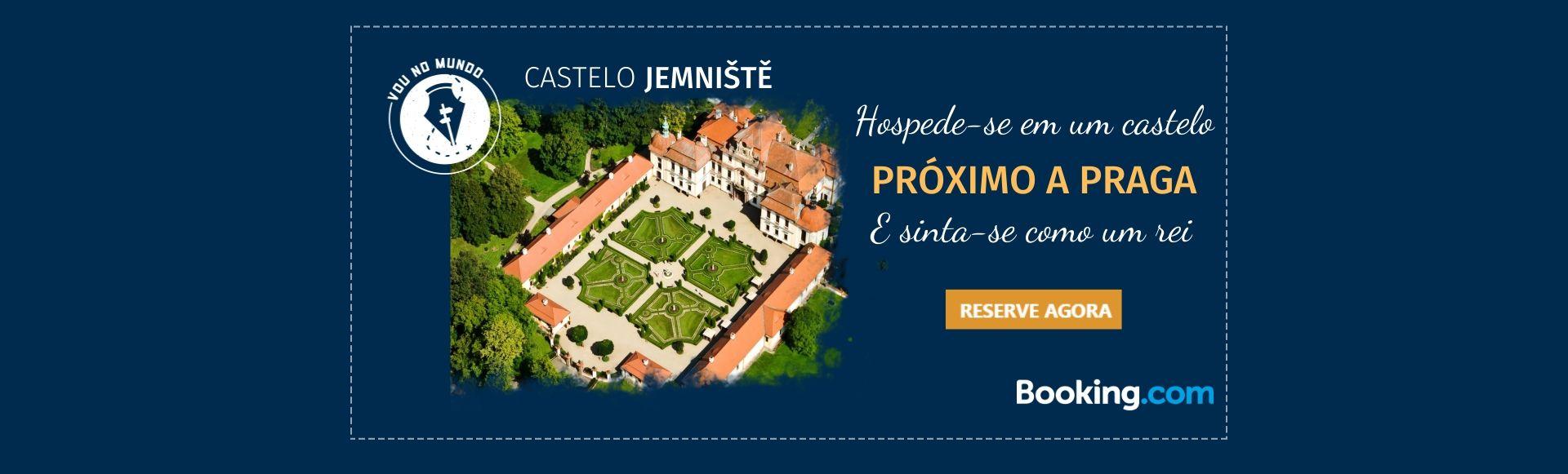 Castelo Jemniště é uma hospedagem próxima a Praga, na República Tcheca.