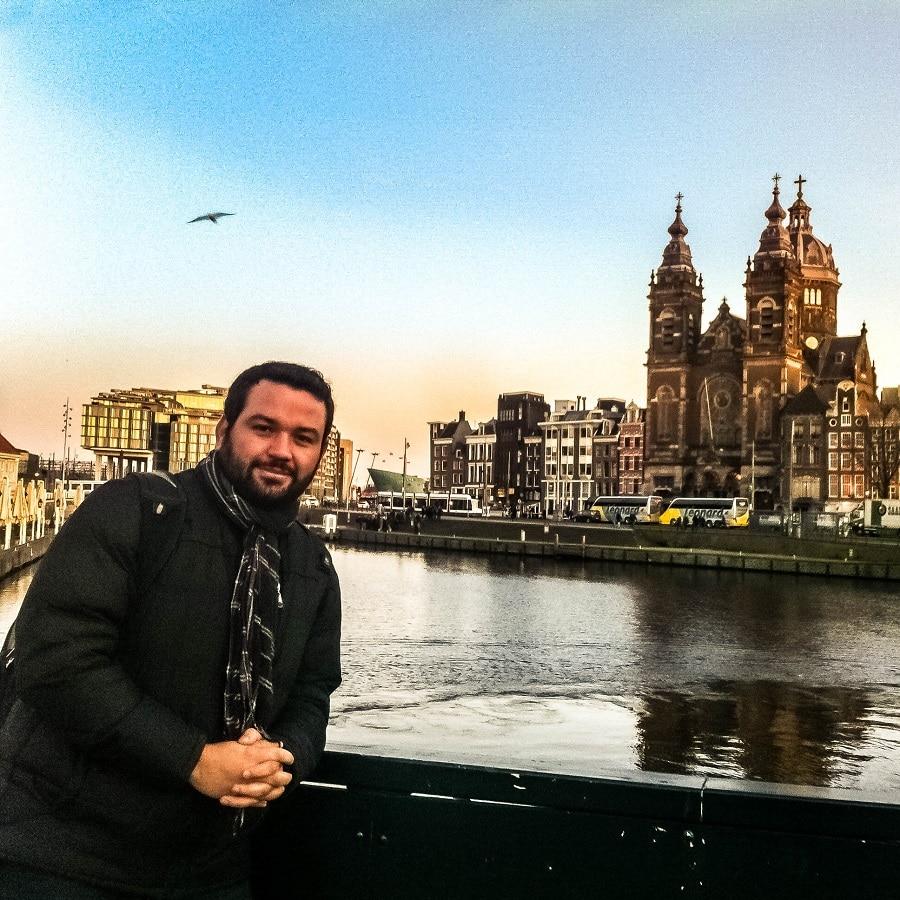 Pôr do sol em Amsterdã