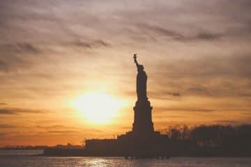 Estatua da Liberdade em Nova York, Estados Unidos.