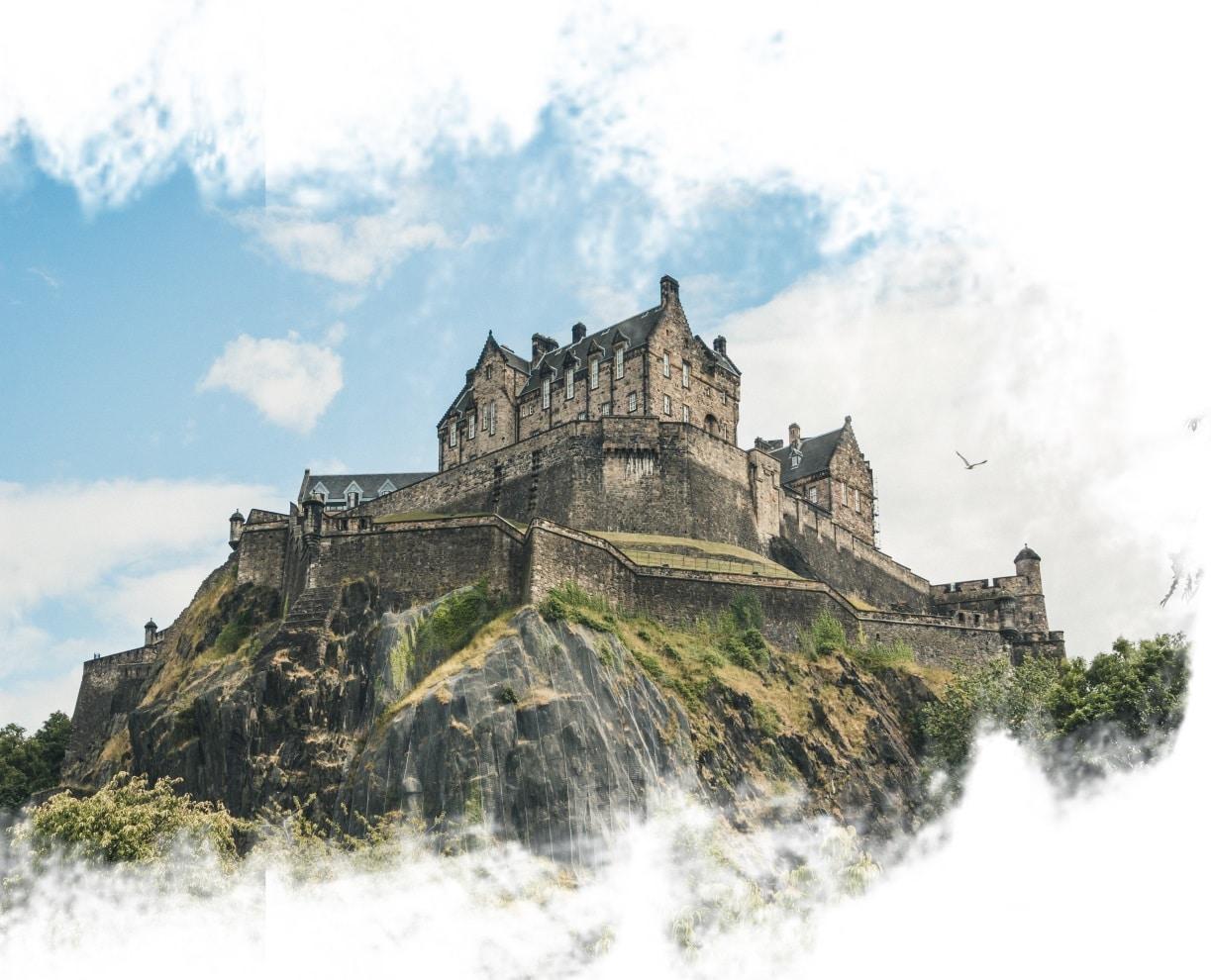 Castelo de Edimburgo.