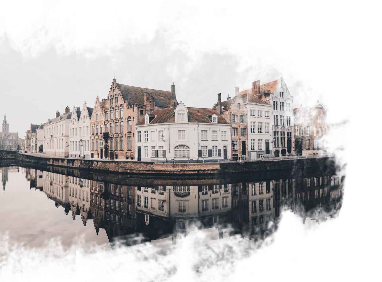 Canais em Bruges