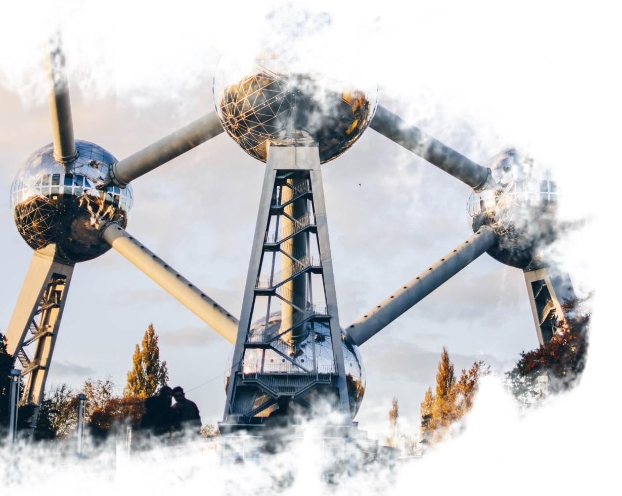 Monumento Atomium em Bruxelas.