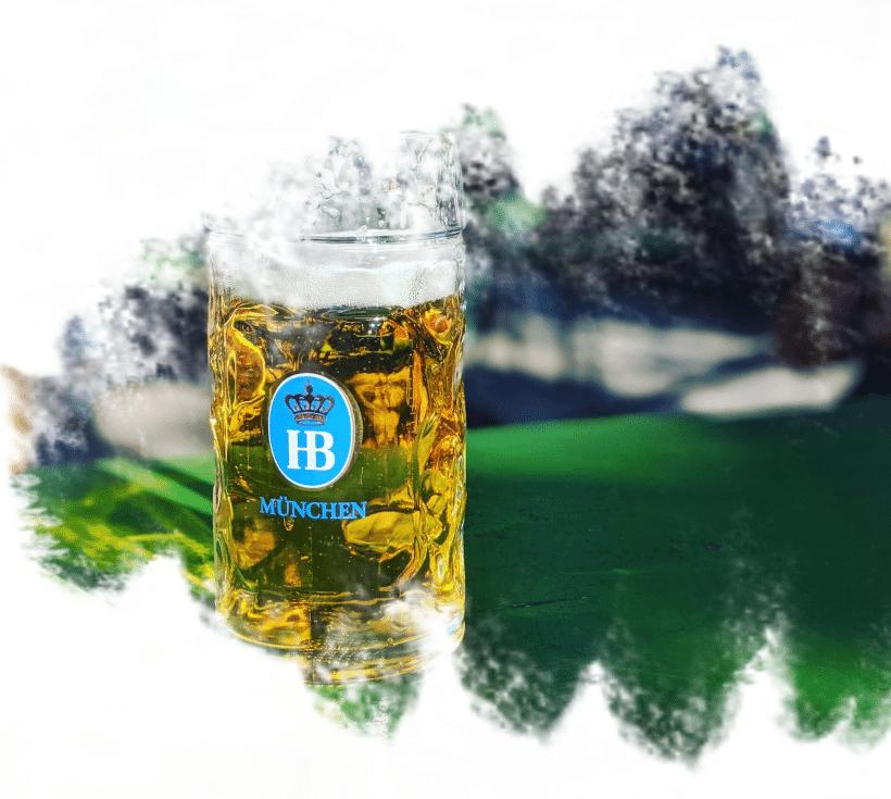 Caneco de cerveja em Munique.