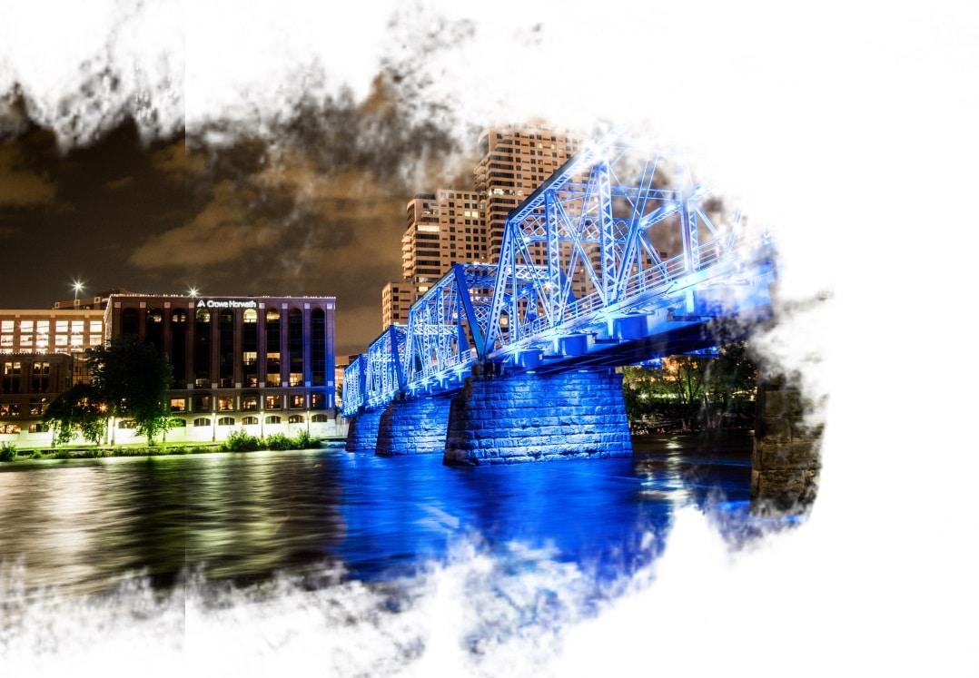 Blue Bridge em Grand Rapids