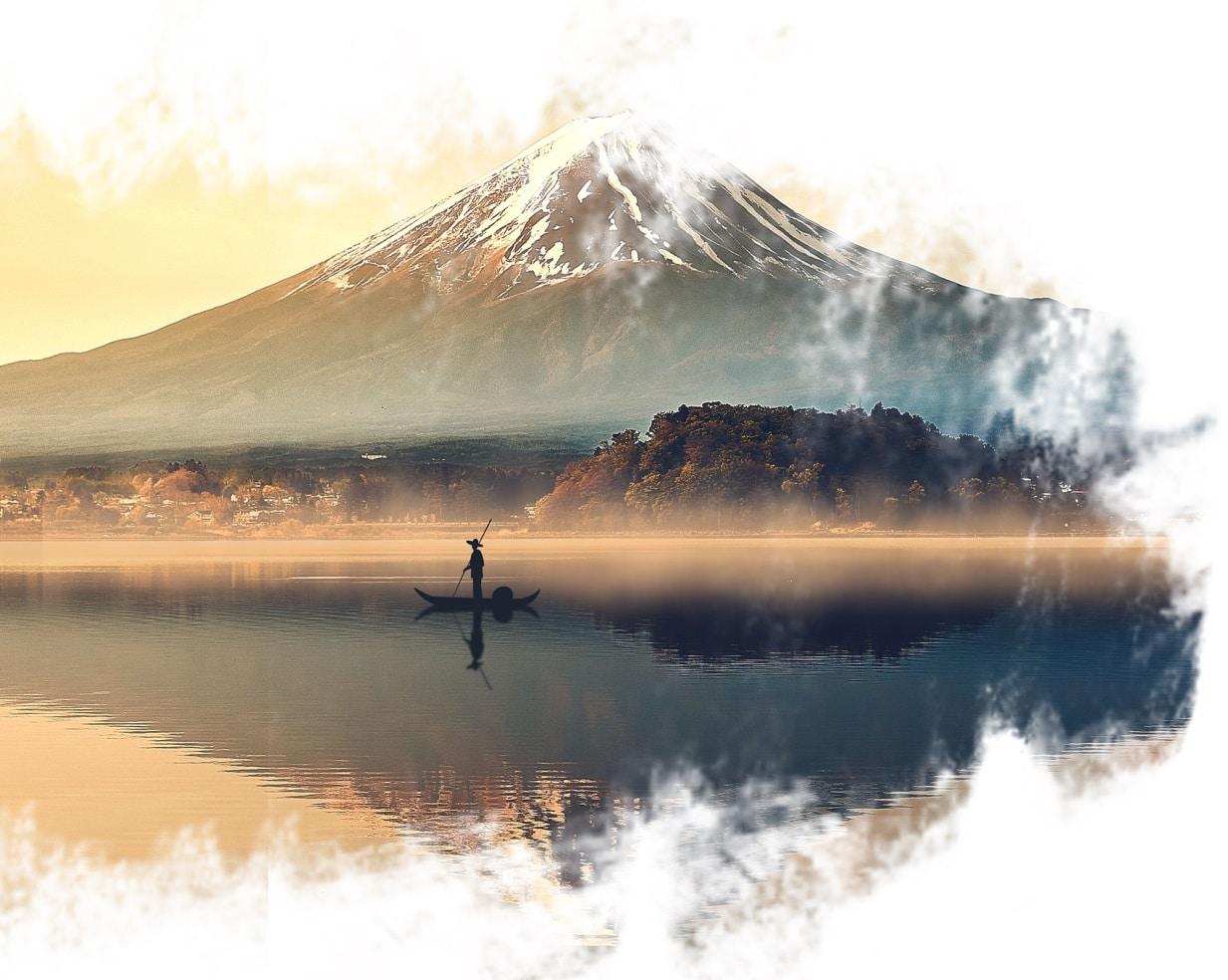 Monte Sagrado Fujiem Tóquio.