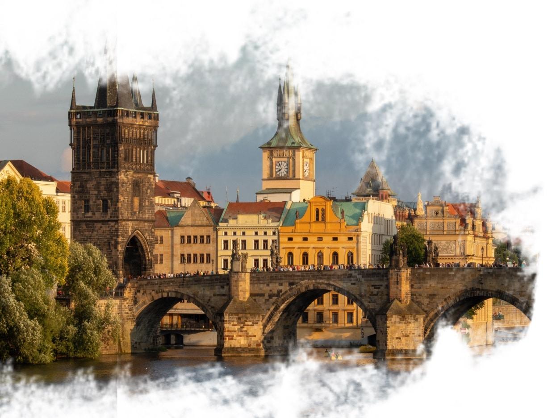 Ponte Charles Bridge em Praga, na República Tcheca.