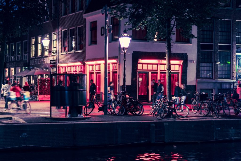Red Light District em Amsterdam.