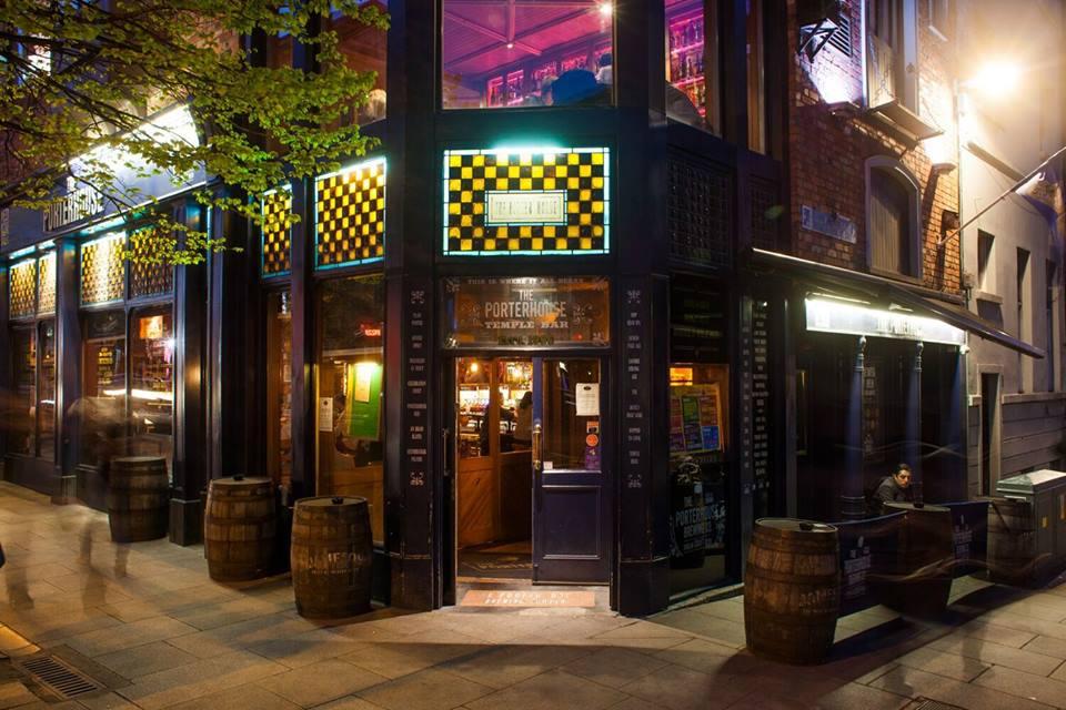 Porterhouse no Temple Bar em Dublin.