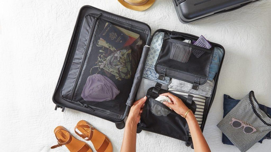 Cuidado com o peso da bagagem.