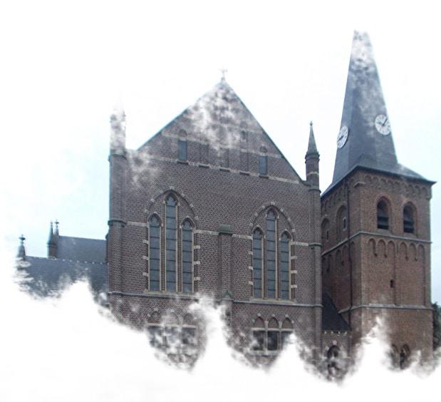 A igreja Kaulille Kerk em Bocholt, na Bélgica.