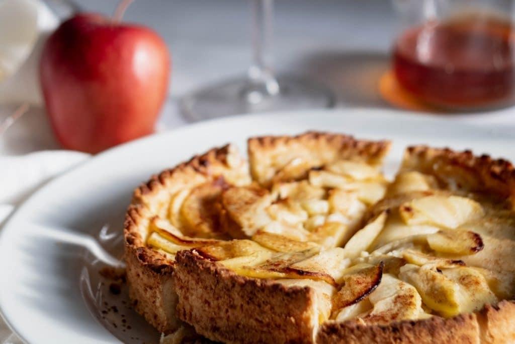 Torta de maçã holandesa.