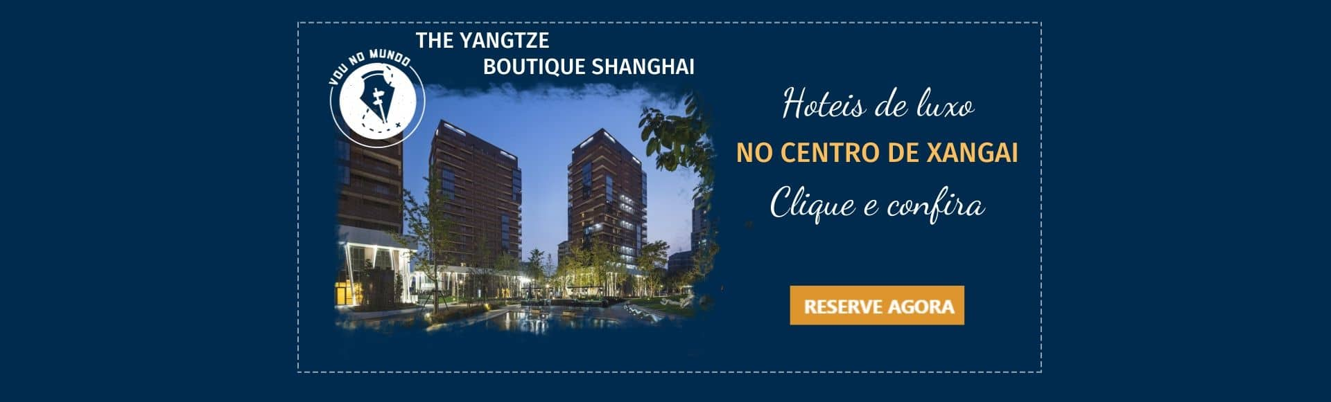 Hotel Yangtze em Xangai, China.