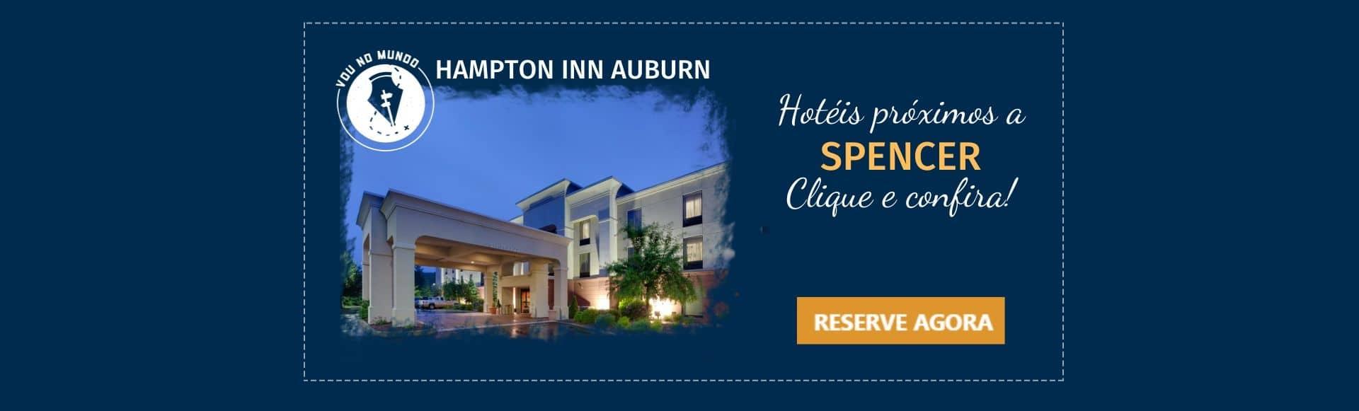 Hotel Hampton Inn Auburn, próximo a Spencer, EUA.