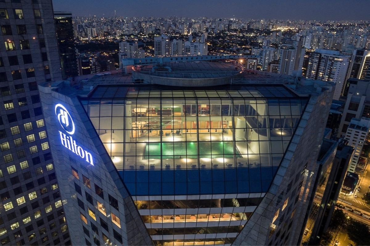 Hotel Hilton no bairro Morumbi, São Paulo.
