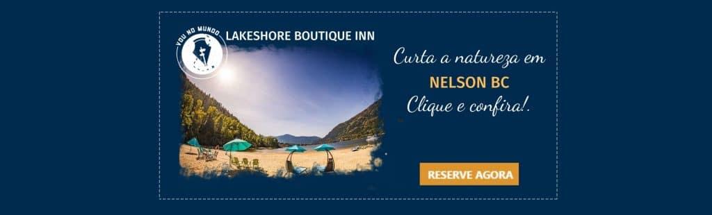 Lakeshore Boutique Inn, na cidade de Nelson, na Colúmbia Britânica, Canadá.