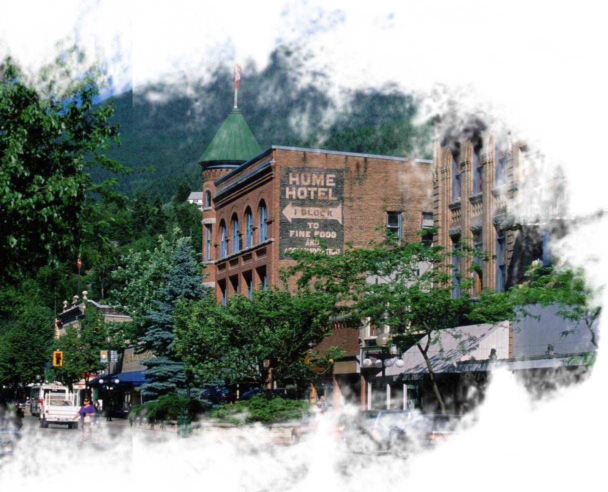 Nelson, na Colúmbia Britânica, Canadá. Também conhecida com Cidade da Rainha.
