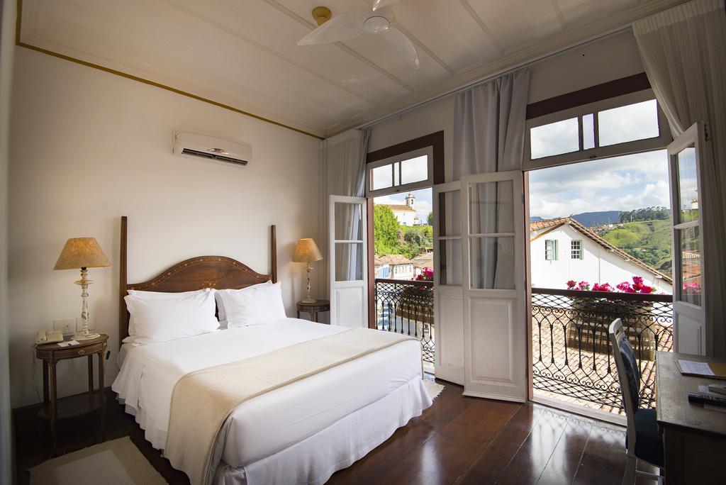Quarto do Hotel Solar do Rosário em Ouro Preto.