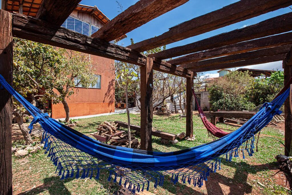 Quintal na Casa do Thomaz na Lapinha da Serra, Minas Gerais.