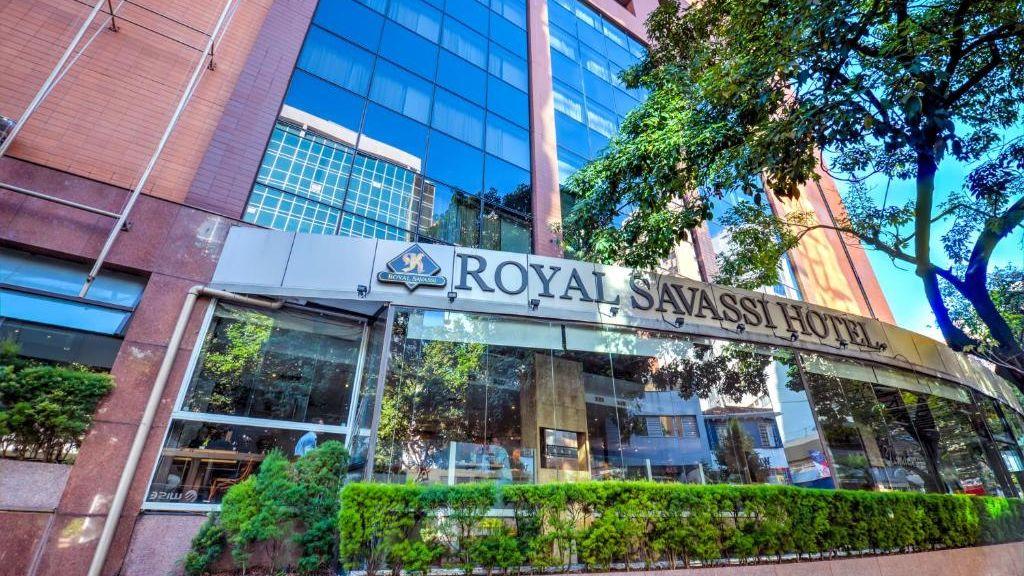Fachada do hotel Royal Boutique Savassi em Belo Horizonte.