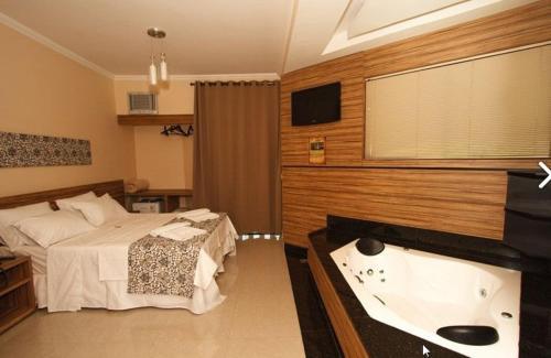 Suite com banheira no Estrada Real Palace em Brumadinho