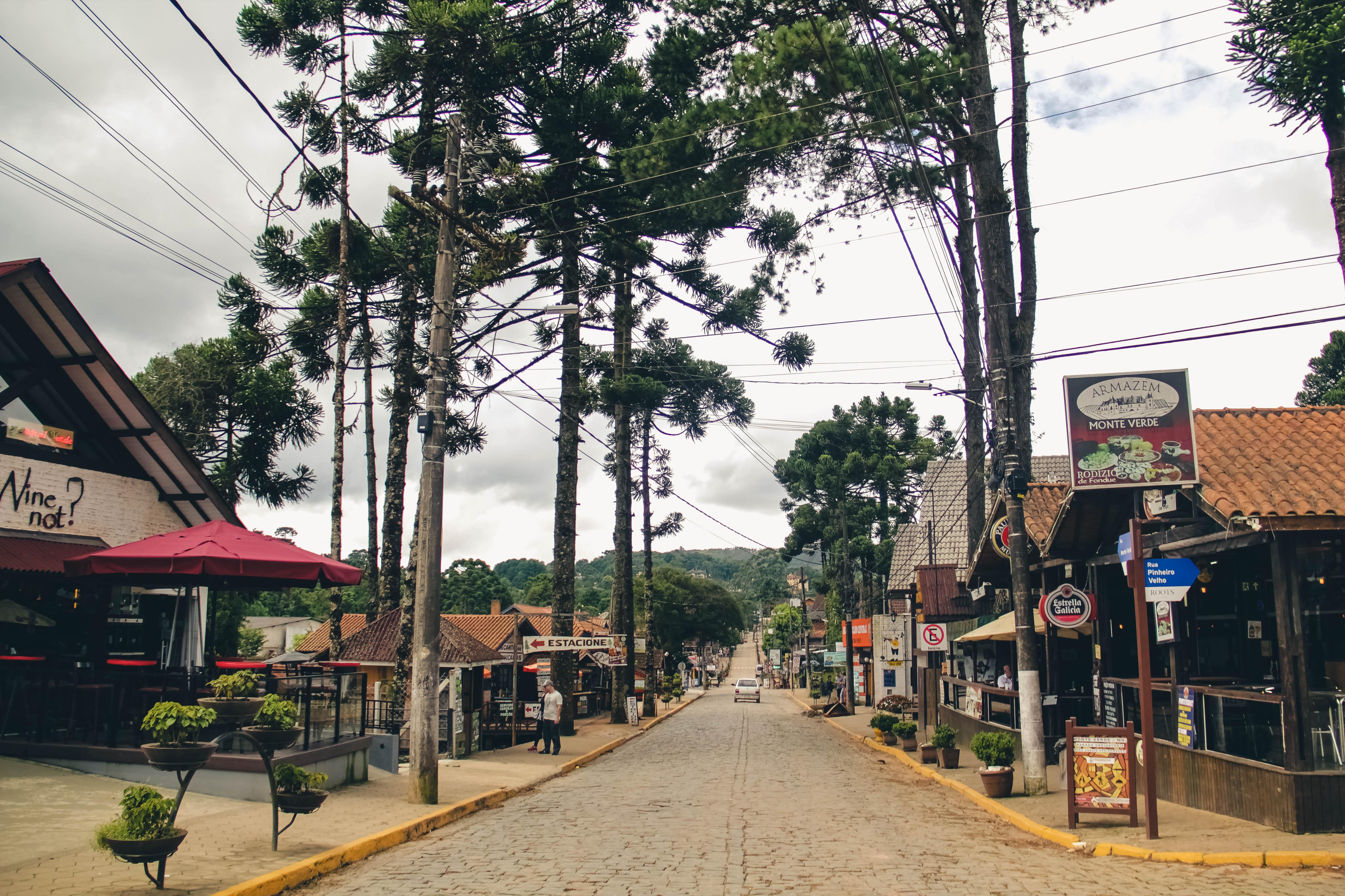 Rua em Monte Verde, MG.