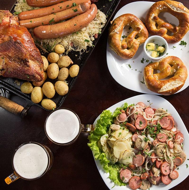 Culinária alemã na Cervejaria Fritz