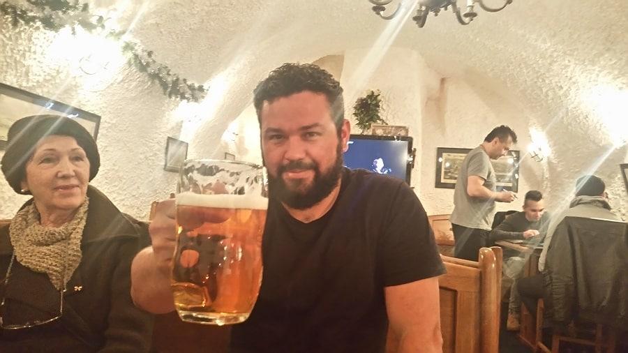 Cerveja em Praga.