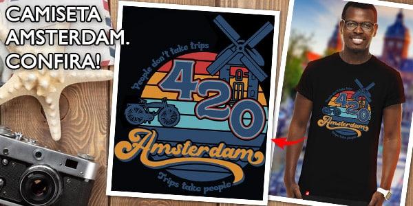 Camiseta Vou no Mundo Amsterdam 420