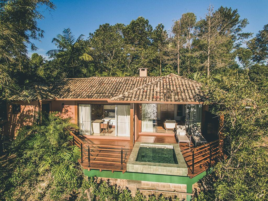Chalé do Ponta dos Ganchos Exclusive Resort, em Governador Celso Ramos, SC.