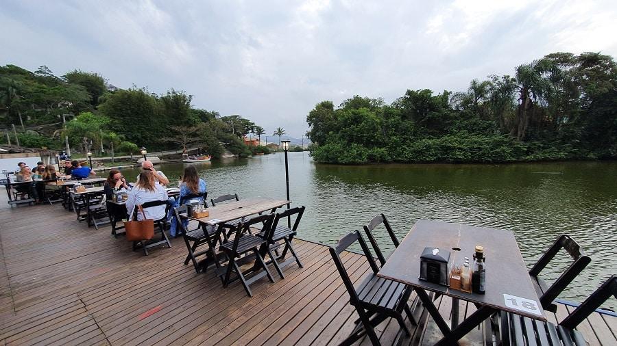 Canal da Barra da Lagoa, em Florianópolis.