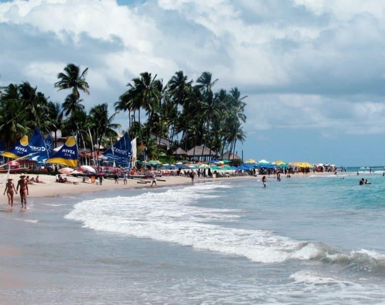 Praia de Porto de Galinhas em Pernambuco